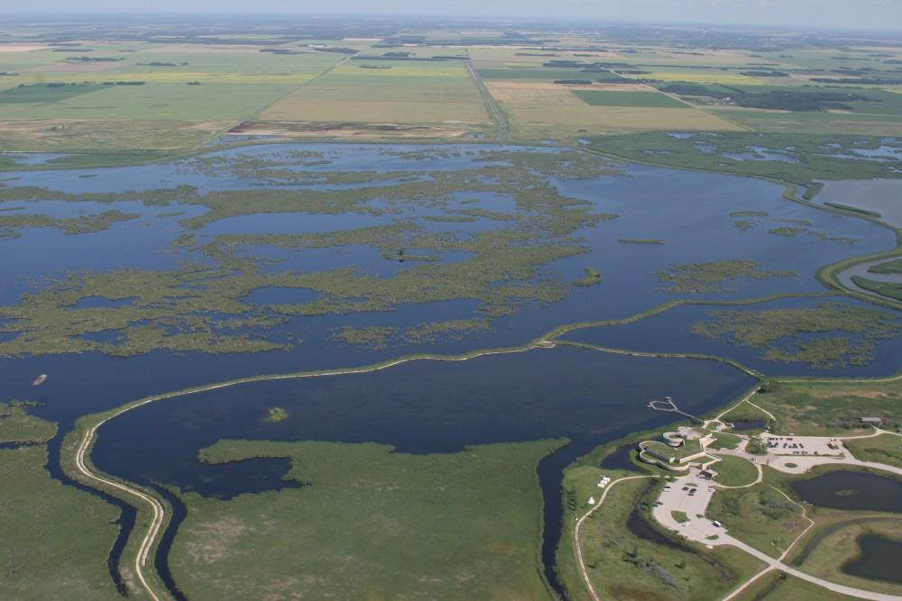Aerial view of Oak Hammock Marsh
